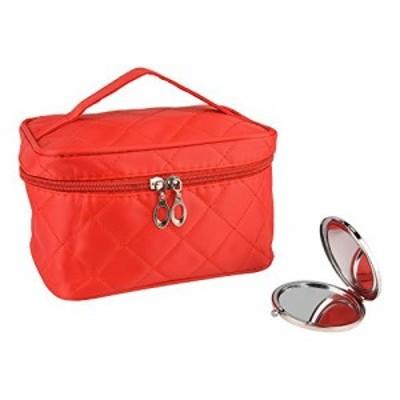 化粧ポーチ コスメバッグ トラベルポーチ ドレッサー 化粧品 収納 雑貨 小物入れ 女性 超軽量 機能的 大容量 鏡付き