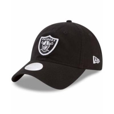 ニューエラ レディース 帽子 アクセサリー Women's Black Las Vegas Raiders Core Classic Primary 9TWENTY Adjustable Hat Black