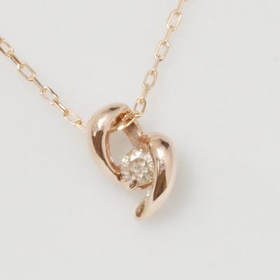 K10 1粒 ダイヤモンド ペンダント ネックレス 10金 10k 一粒 イエローゴールド ピンクゴールド ホワイトゴールド YG PG WG