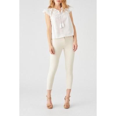 ディーエル1961 レディース デニムパンツ ボトムス Florence Frayed Hem Crop Skinny Jeans SHERIDAN