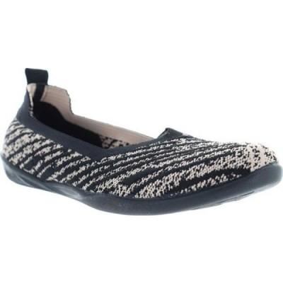 ベルニー メイヴ Bernie Mev レディース スリッポン・フラット シューズ・靴 Heidi Knit Flat Black Blush Knit