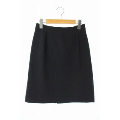 【中古】クリアインプレッション CLEAR IMPRESSION タイトスカート ひざ丈 2 紺 /KN ■OS レディース