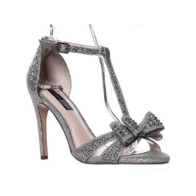 レディース 靴 サンダル Womens I35 Reesie2 Rhinestone Bow Evening Sandals Champagne 6.5 US