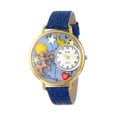 いて座 ロイヤルブルーレザー ゴールドフレーム時計 #G1810010
