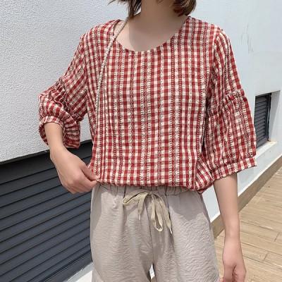 レディース Tシャツ きれいめ   春 夏 半袖 Tシャツ 丸首   トップス オシャレ 韓国風 ゆったり 大きいサイズ ゆったり  2021 新作