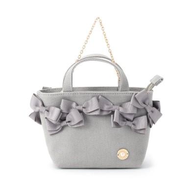 クチュール ブローチ Couture brooch 【メニーリボンシリーズ】メニーリボンマイクロトート (グレー)