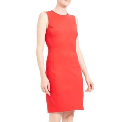 セオリー レディース ワンピース トップス Sleeveless Fitted Scuba Dress