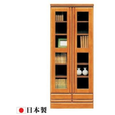 書棚 本棚 フリーボード ミドルボード リビング収納 幅60 60幅 高さ146cm ガラス扉 日本製 北欧 シンプル モダン アウトレット価格並