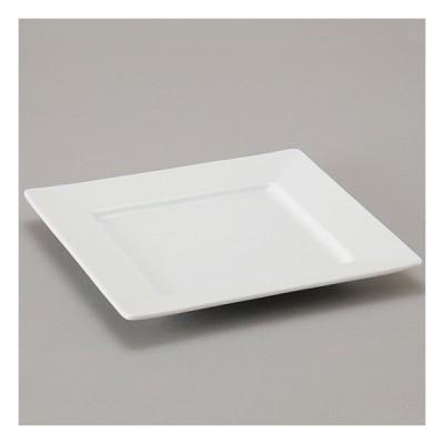テトラ 24cm 正角皿 洋食器 正角プレート 20cm〜25cm 業務用 カネスズ 約23.9cm デザート 前菜 オードブル