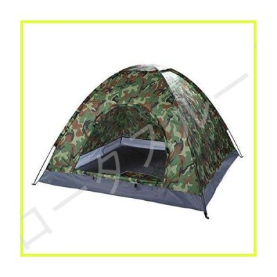 QWERTY 3-4 Person Camping Dome Tent, Portable Instant Pop Up Tent Family Camping Tent for Camping Hiking Mountaineering, Camouflage 並行