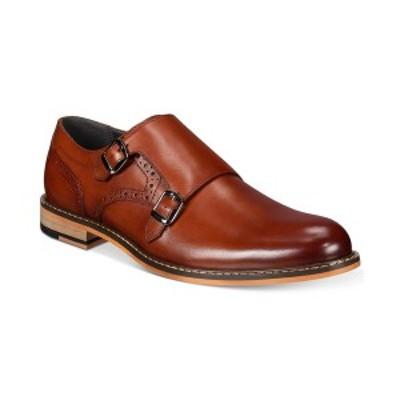 バースリー メンズ ドレスシューズ シューズ Men's Jesse Leather Monk-Strap Oxfords, Created for Macy's Tan