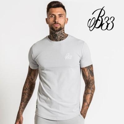 Bee Inspired Clothing ビーインスパイアード Signature Tee - Light Grey ライトグレー 半袖 Tシャツ メンズ 筋トレ ジム ウエア
