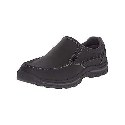 Skechers Men's Braver Rayland Slip-On Loafer, Black Leather, 10.5 2E US