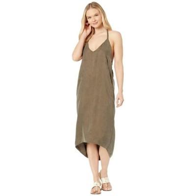 アメリカンローズ レディース ワンピース トップス Jade High-Low Halter Slip Dress
