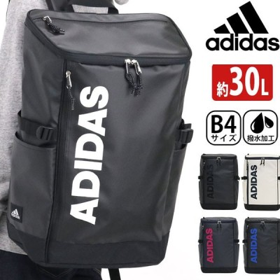 リュック adidas アディダス 大容量 バックパック 30L 通学リュック リュックサック スクエア デイパック バック ビッグロゴ メンズ ブランド 撥水 A4 B4