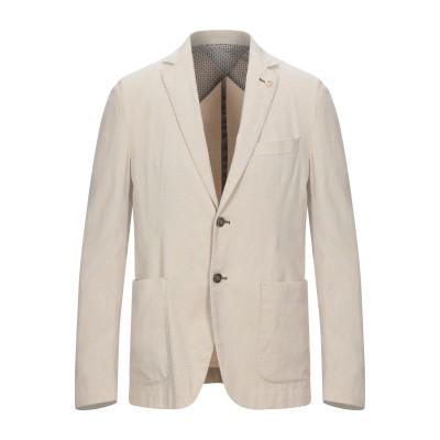 BRECO'S テーラードジャケット ベージュ 50 コットン 97% / ポリウレタン 3% テーラードジャケット