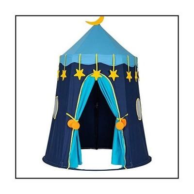 【新品】Whitleig Cotton Yurt Tent with Small Colorful Flags Blue並行輸入品