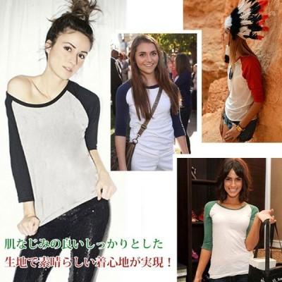バイカラーtシャツ レディース カジュアルtシャツ インナーtシャツ クルーネックtシャツ ベーシックtシャツ シンプルtシャツ 切り替えtシャツ