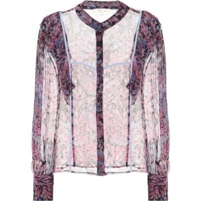 ラブシャックファンシー LoveShackFancy レディース ブラウス・シャツ トップス beatrix printed chiffon blouse Midnight Light