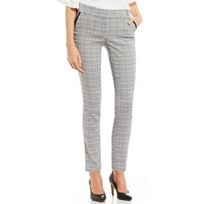 タカラ レディース カジュアルパンツ ボトムス Piping-Detailed Menswear Plaid Dress Pants
