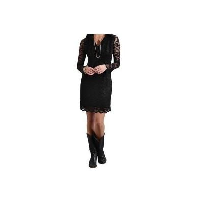 ウエスタン カウボーイ ドレス ワンピース  ステットソン  Stetson Western ドレス レディース L/S Lace Sheer ブラック 11-057-0539-0644 BL