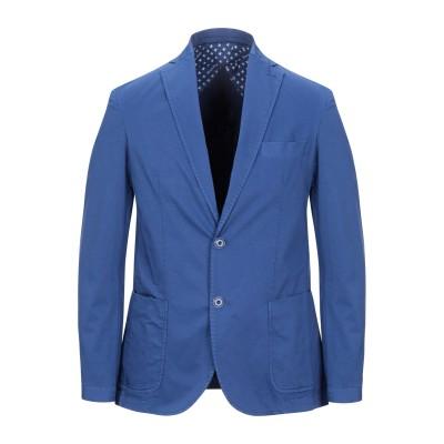 HERMITAGE テーラードジャケット ブルー 48 コットン 97% / ポリウレタン 3% テーラードジャケット