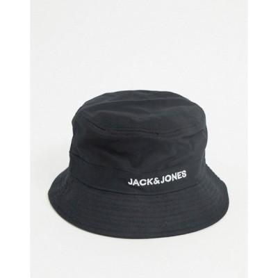 ジャック アンド ジョーンズ メンズ 帽子 アクセサリー Jack & Jones bucket hat in black