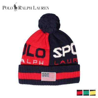 ポロ ラルフローレン POLO RALPH LAUREN ニット帽 ニットキャップ ビーニー メンズ KNIT CAP レッド グリーン イエロー PC0373