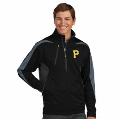 Antigua アンティグア アウターウェア ジャケット/アウター Antigua Pittsburgh Pirates Black Discover Half-Zip