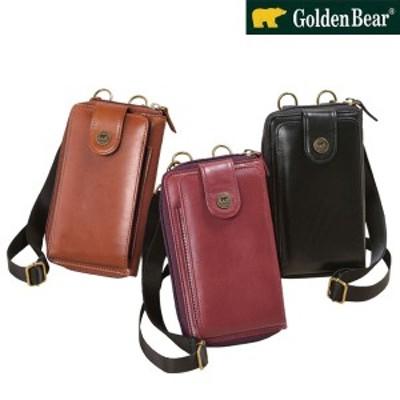 Golden Bear ゴールデンベア イタリアンレザースマホポーチ ベジタブルタンニンレザー スマートフォン入れと財布がひとつ 954106