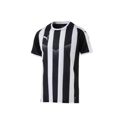 プーマ(PUMA) LIGA ストライプ ゲームシャツ 703640 03 ブラック/プーマホワイト XXL