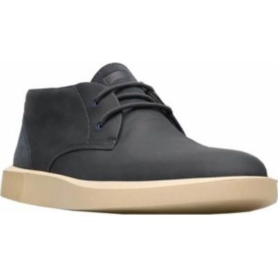 カンペール メンズ ブーツ・レインブーツ シューズ Men's Camper Bill Chukka Boot Charcoal Full Grain Leather/Nubuck