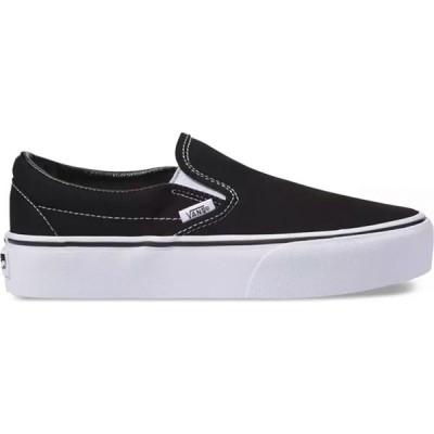 ヴァンズ Vans レディース スリッポン・フラット シューズ・靴 Classic Slip-On Platform Shoes Black
