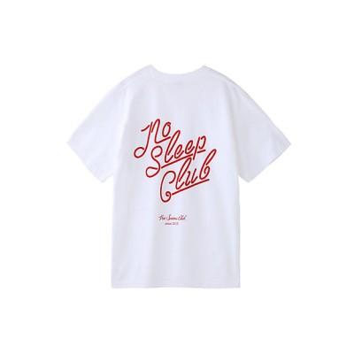 <Priv.Spoons Club/プライベート・スプーンズ・クラブ> NoSleepClub Tシャツ WHITE/RED【三越伊勢丹/公式】