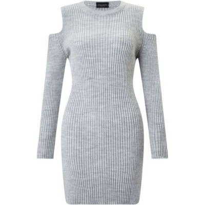 ジュームズ レイクランド James Lakeland レディース パーティードレス ワンピース・ドレス Cold Shoulder Knit Dress Grey