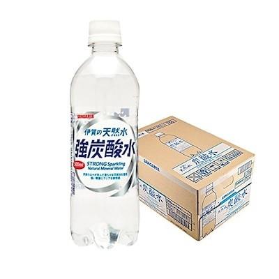 送料別 強炭酸水 サンガリア 伊賀の天然水 プレーン500ml 24本1ケース