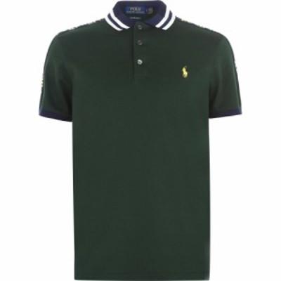 ラルフ ローレン POLO RALPH LAUREN メンズ ポロシャツ トップス Tape Stripe Polo Shirt Green