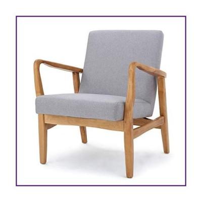 Winford Light Grey Fabric Wood Frame Mid Century Modern Office Chair【並行輸入品】