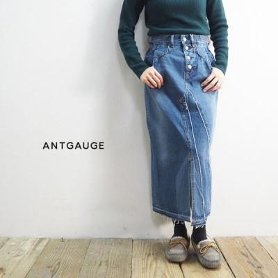 アントゲージ Antgauge スカート レディース ボタンアップスカート GE344 デニムスカート デニム ミモレ