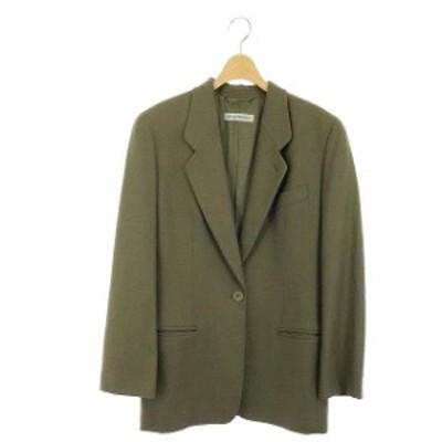 【中古】エンポリオアルマーニ EMPORIO ARMANI ウール1Bジャケット テーラード シングル 42 カーキ /DF ■OS