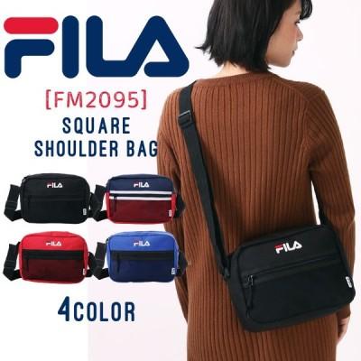 FILA ショルダーバッグ バッグ ショルダー 男女兼用 メンズ レディース フィラ メッシュ A5 黒 ブラック 赤 青 小さめ コンパクト  fm2095 メール便送料無料
