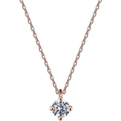 ネックレス レディース ネックレス ペンダント 一粒 CZダイヤモンド 金属アレルギー対応 925 シルバー ファッション ジュエリー FZ-FZ001ZSNRG