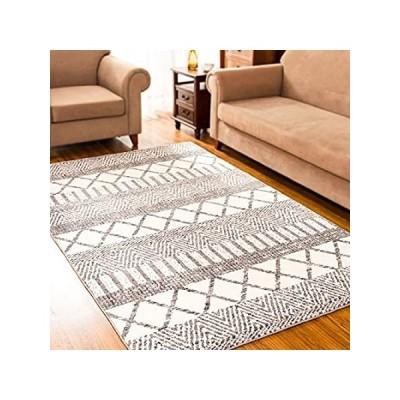 subrtex Geometric Area Rugs for Living Room Bohemian Home Rug Short Plush T