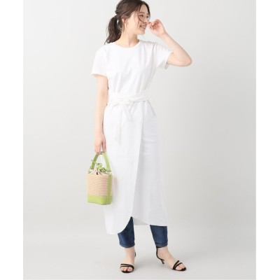 【ラ トータリテ】 OVERLAP DRESS レディース ホワイト フリー La TOTALITE