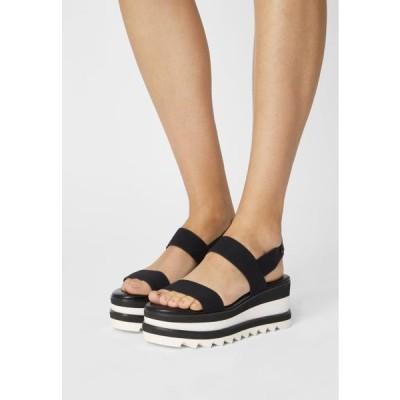 アルド レディース サンダル DREACIA - Platform sandals - black