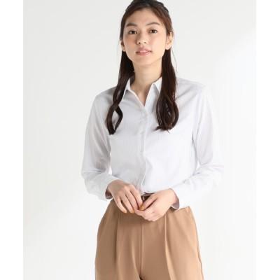 Honeys / 織り柄スキッパーシャツ WOMEN トップス > シャツ/ブラウス