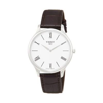 Tissot Men's Tradition 5.5 Brown Leather Strap Watch T0634091601800【並行輸入品】