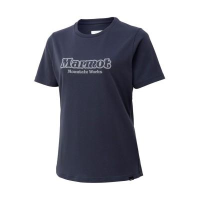 【マーモット】 W's Retro Logo H/S Crew / ウィメンズレトロロゴハーフスリーブクルー レディース ネイビー系 XL Marmot