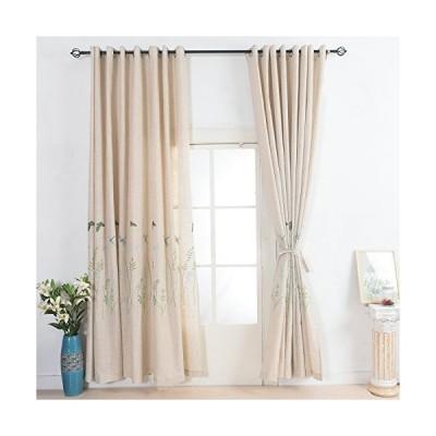 綿花世界 上質リネンカーテン 麻カーテンリネン カーテン おしゃれ オーダーカーテン 出窓 刺繍入れ 幅100cm*丈1