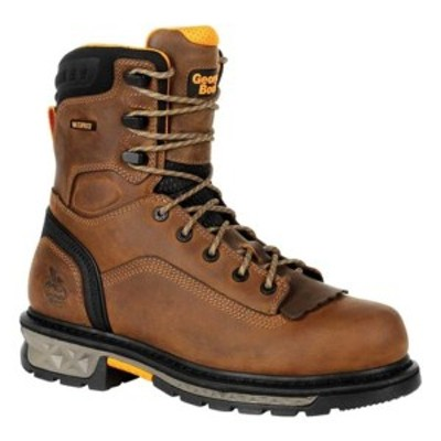 ジョージブーツ メンズ ブーツ&レインブーツ シューズ GB00392 Carbo-Tec LTX Waterproof Work Boot Black/Brown Full Grain Leather